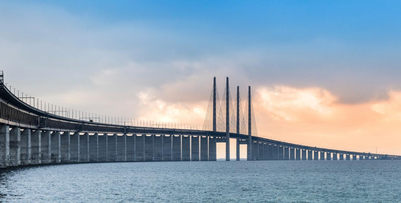 Copenhagen to Malmö Öresund bridge